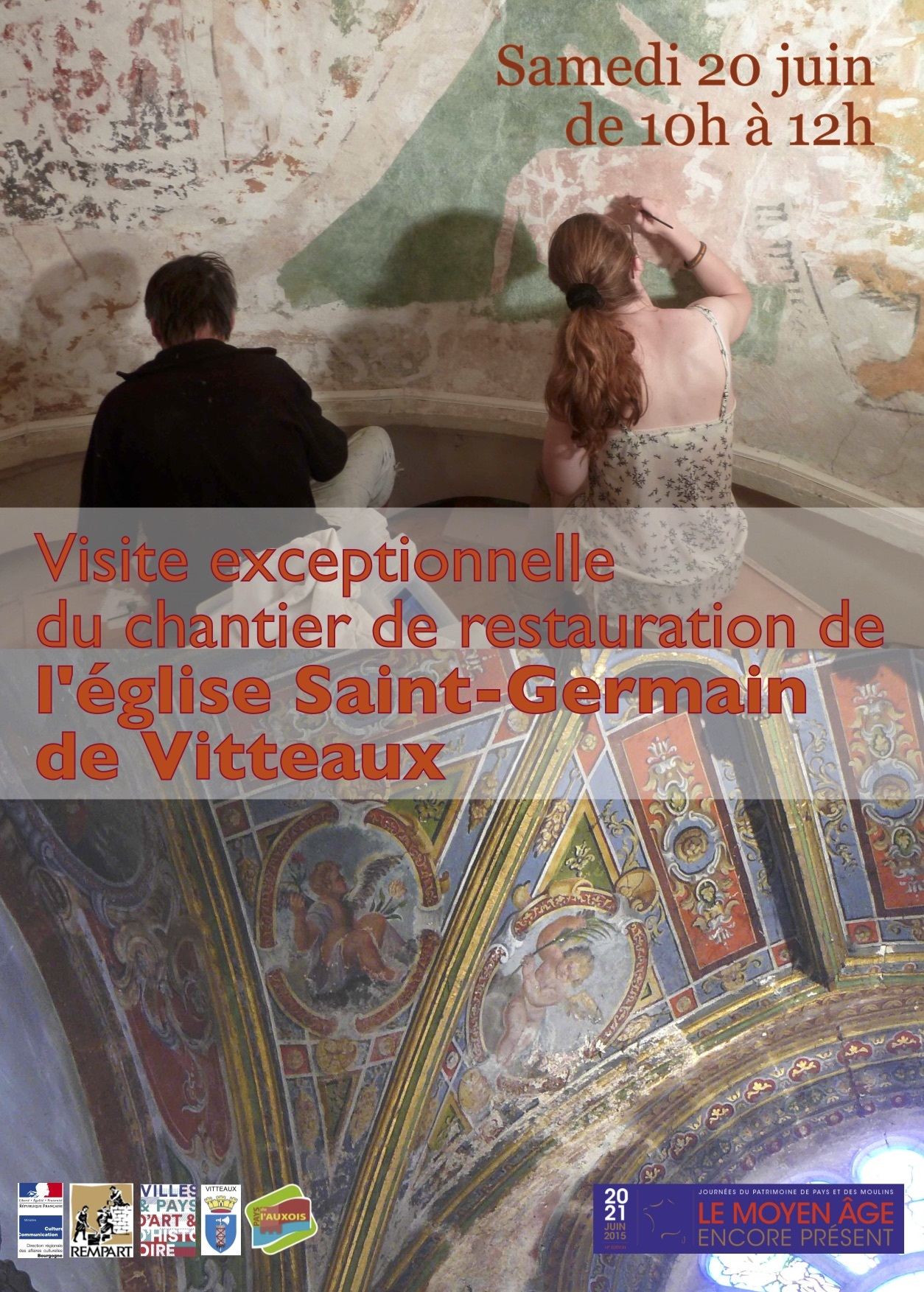 visite de l'église de vitteaux