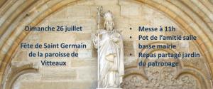 paroisse de vitteaux église saint germain portail sculpture