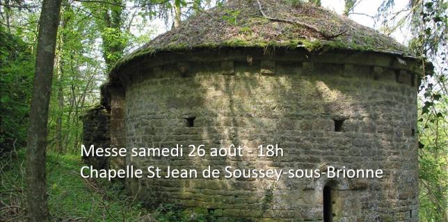 Messe paroisse de Vitteaux chapelle Saint Jean Soussey sous brionne