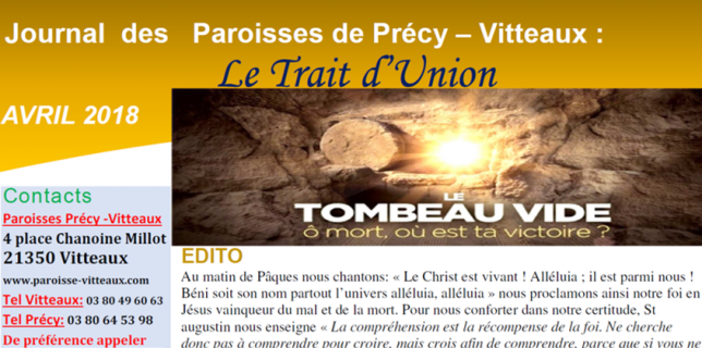 paroisse de vitteaux trait d'union 2018
