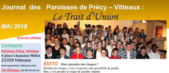 paroisse de vitteaux trait d'union mai 2018