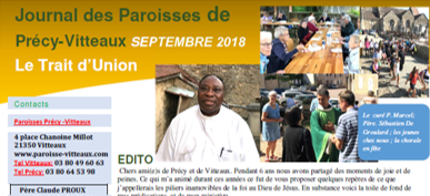 Trait d'Union Septembre 2018