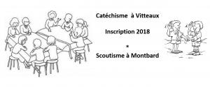 Inscirption scoutisme & catéchisme vitteaux
