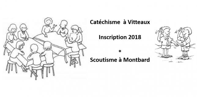 Inscription Catéchisme & scoutisme